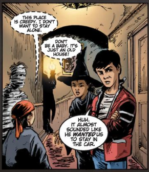 Panel from Terror in Ghost Mansion